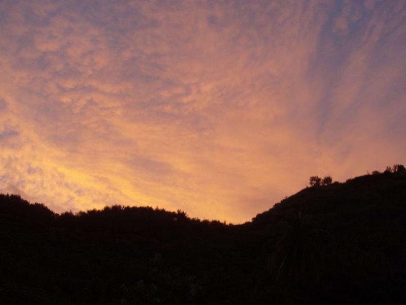 lever de soleil Bora