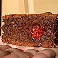 Brownie au sirop d'érable et aux framboises miellées