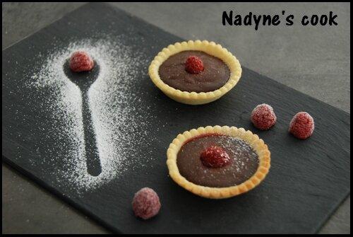 Tartelettes chocolat framboises1