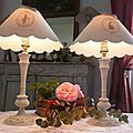 paire lampes silhouettes