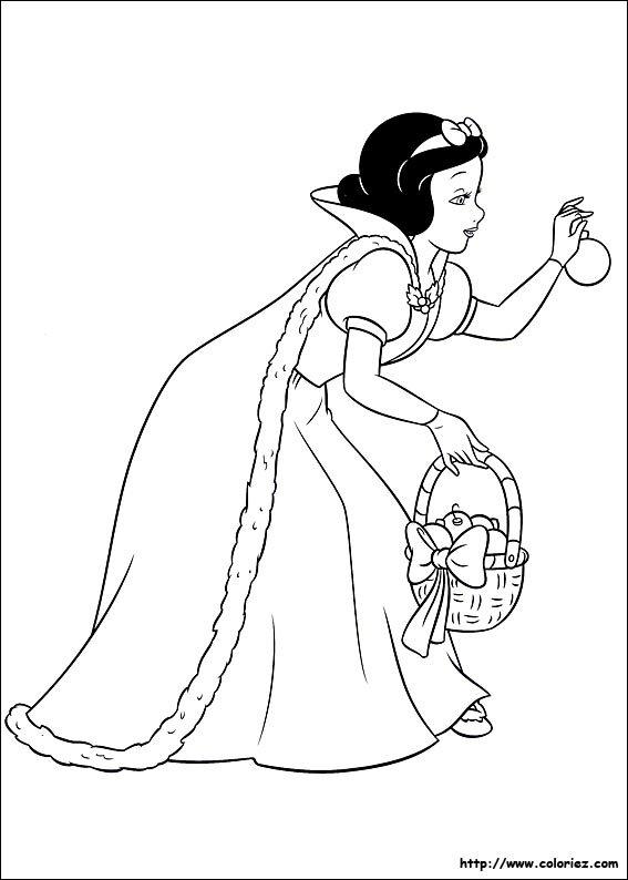 Coloriage De Princesse Blanche Neige A Imprimer.Coloriage Blanche Neige Disney Coloriage A Imprimer Coloriage Gratuit