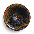 A 'Jian' russet-splashed black-glazed bowl, Song dynasty (960-1279)