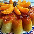 Gateau aux abricots frais et au caramel.... au micro- ondes