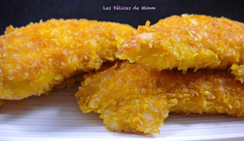 Aiguillettes de poulet panées aux corn flakes (recette sans gluten) 3