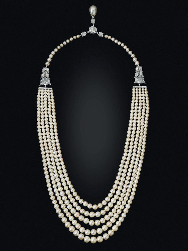023e9ee5e A five-strand natural pearl and diamond necklace, Bhagat. Estimate USD  800,000 - USD 1,200,000. Price realised USD 1,695,000. © Christie's Images  Ltd 2019.