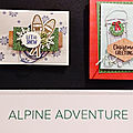 Nouveautés stampin'up! - collection alpine adventure et renne fringant