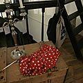 Culotte en coton rouge à pois blancs et serpentine blanche devant - taille 34 (4)