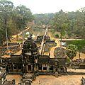 Vue du sommet du Temple Baphuon (sur le site d'Angkor Thom)
