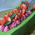 L'entremet fraise coco et citron vert