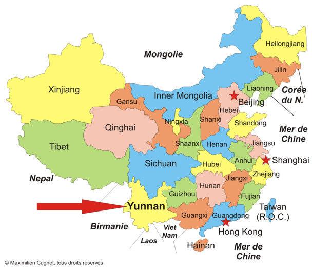 Carte Chine Hunan.Provinces De Chine Carte Trouver Des Idees Pour Voyager En Asie