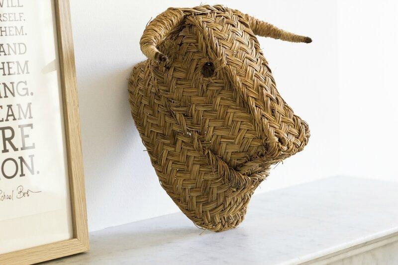 Tête taureau esparto deco chambre enfant deco maison kidsroom TRENDY LITTLE 1