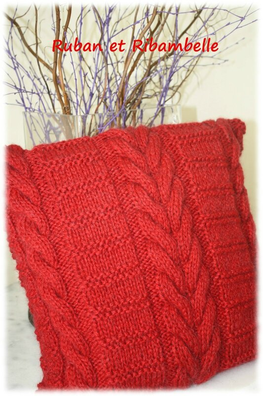 Coussin tricot 2