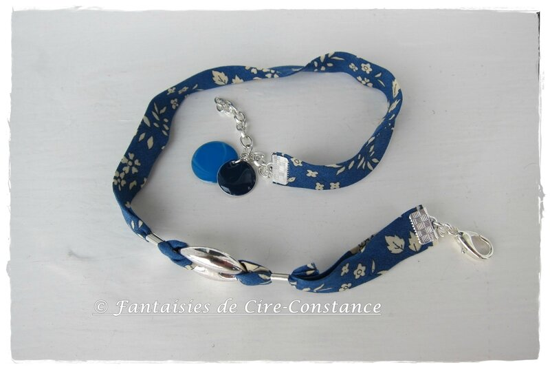 bracelet double tour grain de café Capel bleu-1