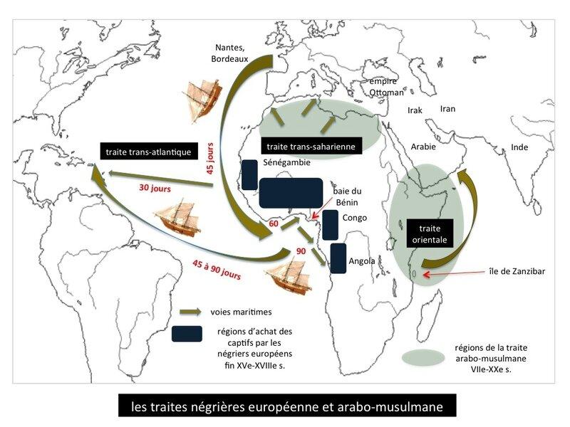 traites négrières européenne et arabo-musulmane