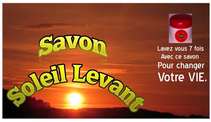 LE SAVON DE CHANCE SOLEIL LEVANT