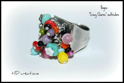 Bague Crazy charms multicolors