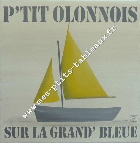 P'tit Olonnois sur le grande bleue Coloris Jaune