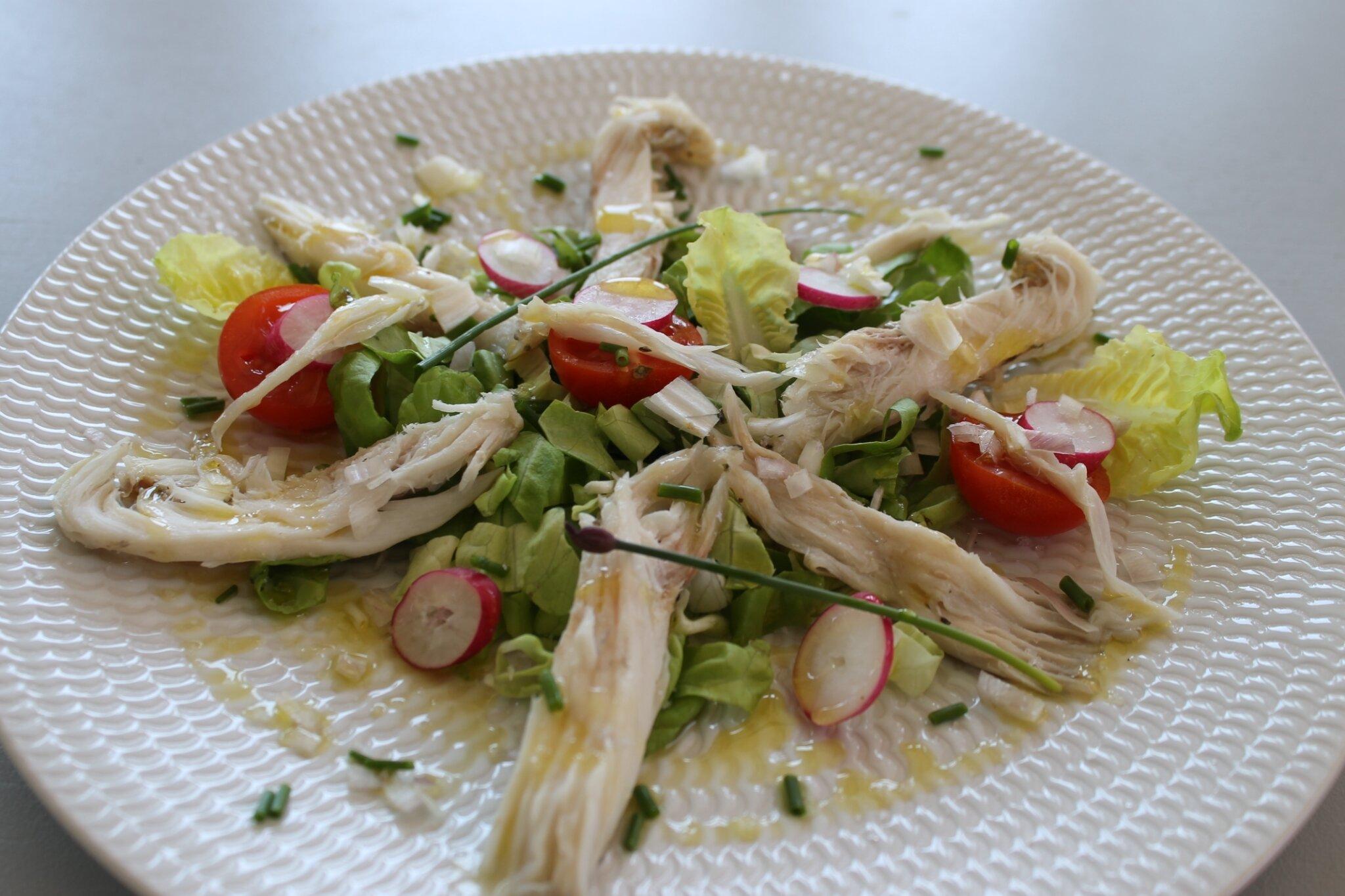 Salade à l'aile de raie