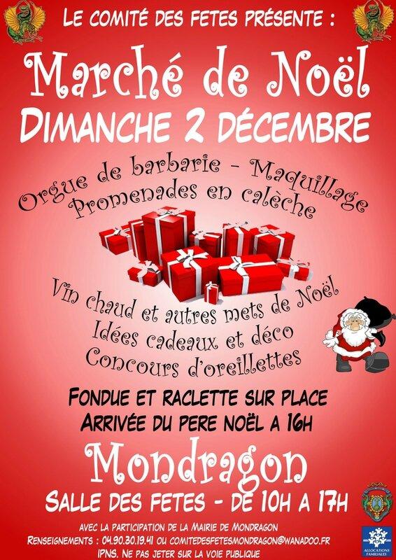 Marché de Noel Mondragon 2013