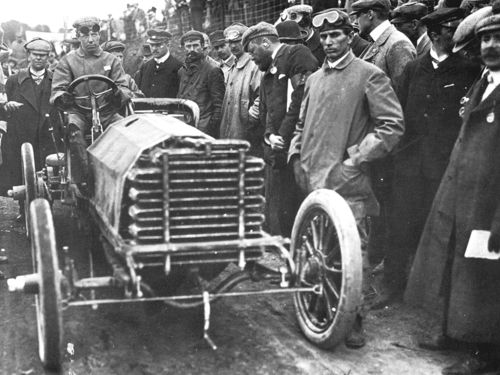 1903 gordon bennett trophy, athy, northern ireland - louis mooers (peerless 17-litre) dnf 1 tires 1
