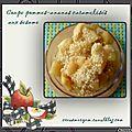 Coupe pommes-ananas caramelises aux sesame