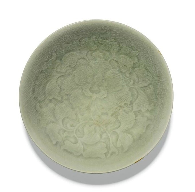A 'Yaozhou' carved dish, Song dynasty