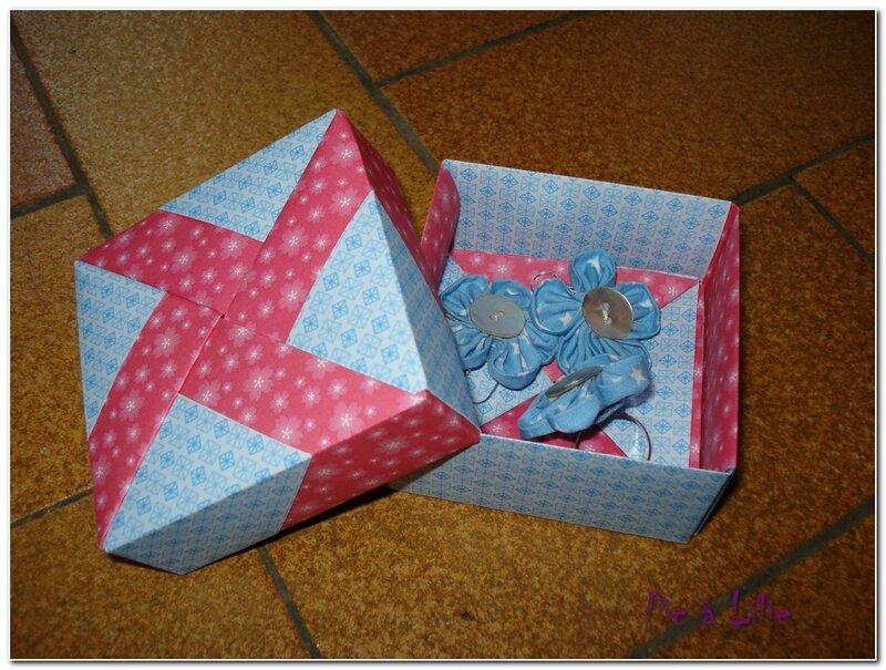 parrure kansashi et boîte origami