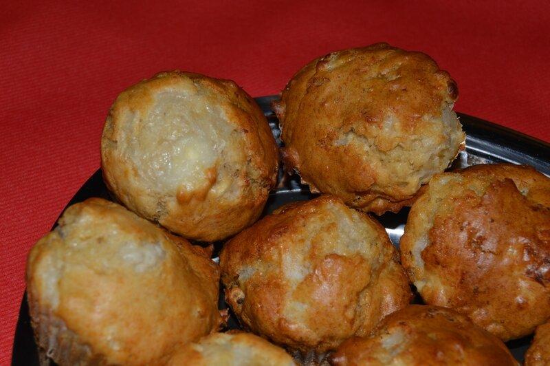 muffins chèvre miel noix