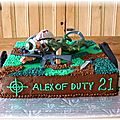 Call of duty cake Alex 21 ans