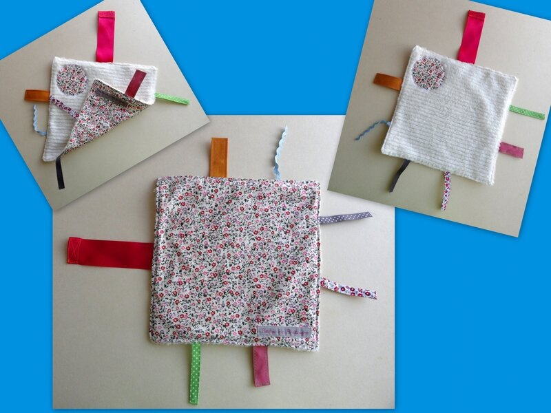 Montage Liberty rose, rouge et prune