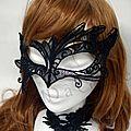 masque vénitien broderie dentelle par amd a coudre