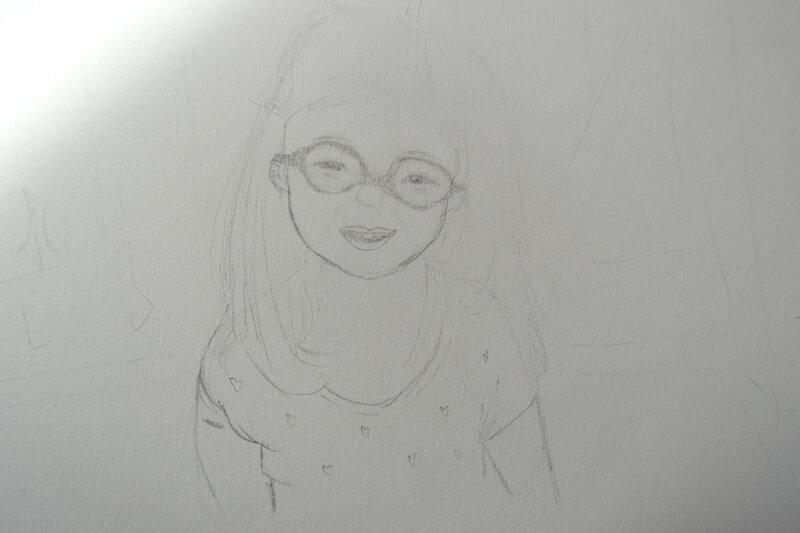 Portrait d'une petite fille de 4 ans