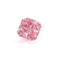 A rare cut-cornered square modified brilliant fancy deep pink diamond weighing 1,02 ct
