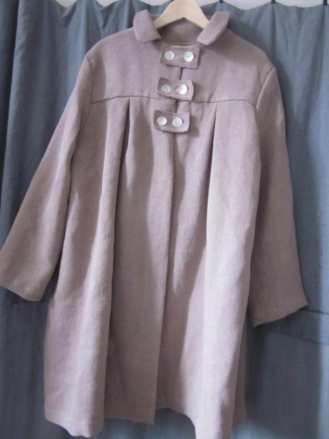 Manteau d'été en lin rose buvard (2)