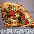 Pizza légumes tofu