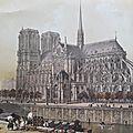 Gravures anciennes de paris en 1860