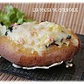 Pommes de terre farcies jambon épinards