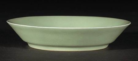 A_celadon_glazed_porcelain_dish
