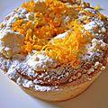 tarte à l'orange au streusel à la cardamome