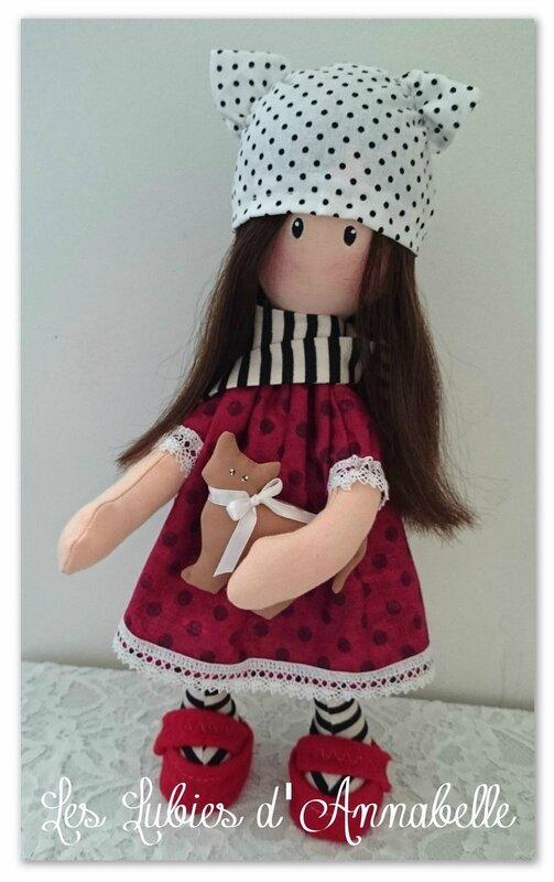 poupée Gorjuss style ghotique