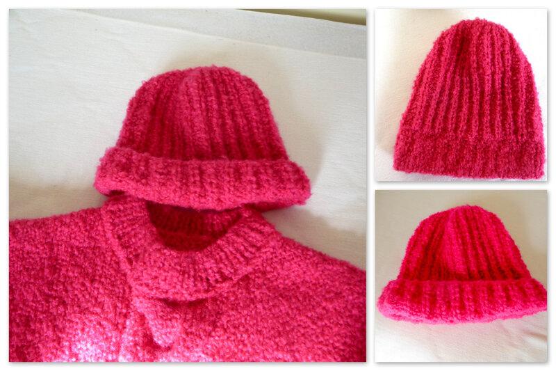 bonnet rose montage