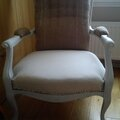assise toile blanche