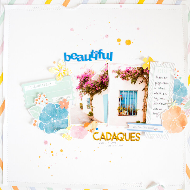 BeautifulCadaques_Scrapbooking_Layout_ScatteredConfetti_PinkfreshStudio_SimpleSweet_1
