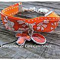 Bracelet duo Lib sellier orange Capel
