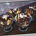 Profiteroles chantilly et chocolat