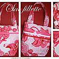 Sac fillette coton rose