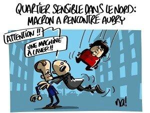 macron_humour aubry_quartier_sensible
