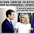 Macron cherche un moyen pour remonter dans les sondages