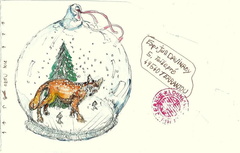 Renardeau Art Postal Verso