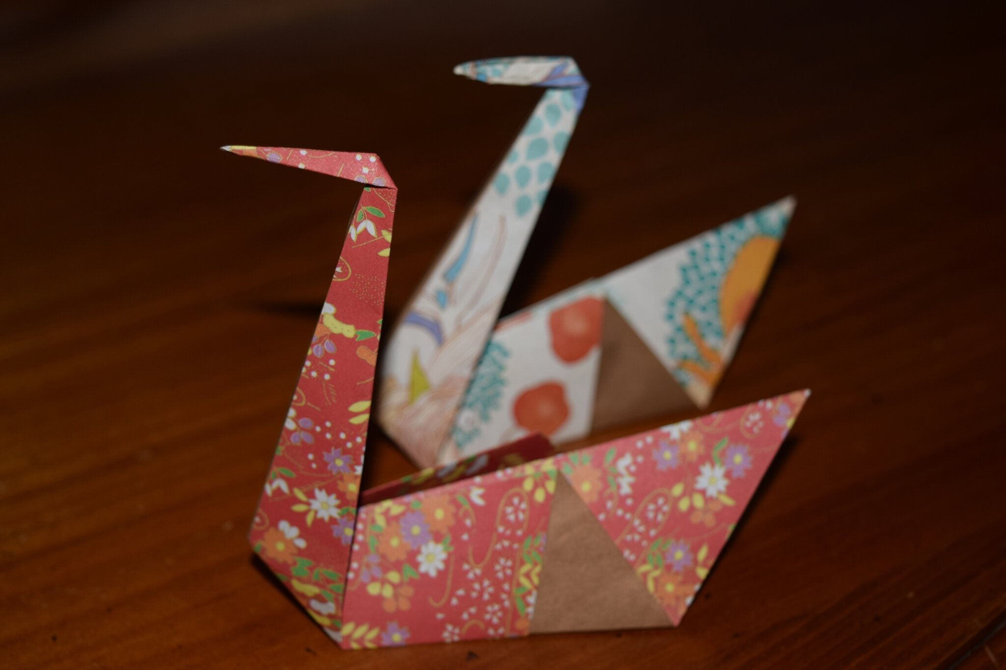 Cigne en origami